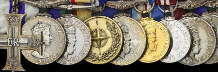Major Davies' modern medals to sell in London