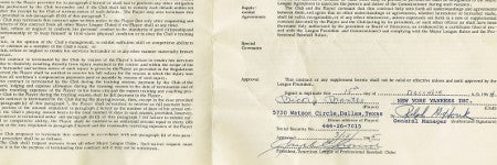 Mickey Mantle's 1965 contract could exceed $15,000