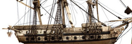 Napoleonic wars model ship valued at $8,000 with Hansons