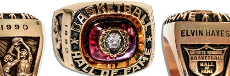 Elvin Hayes basketball ring provides top lot in sports sale
