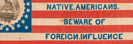 1844 Native American Party flag to star in political memorabilia auction