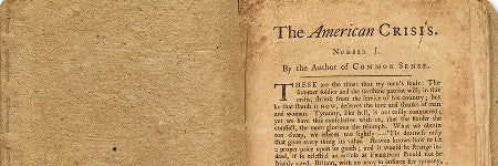 Thomas Paine's American Crisis achieves $125,000 at Swann
