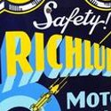 Richlube Motor Oil sign top performs at Matthews's petroliana sale in Illinois