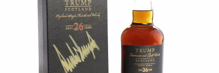 Trump signed GlenDronach whisky will sell in Glasgow