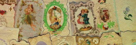 Victorian Valentine's Day cards feature in sale at Hansons