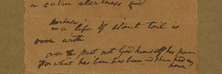 Walt Whitman handwritten poem offered at Bonhams