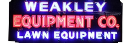 Weakley Equipment neon sign to lead March 28 sale