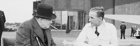Winston Churchill smoked cigar to sell at Halls