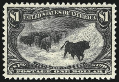 $1 trans-mississippi stamp auction