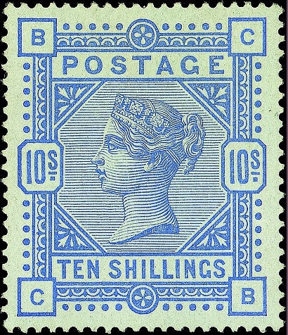 10 shilling stamp British