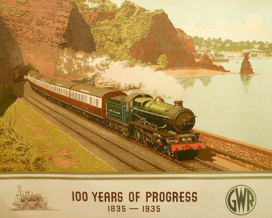 100 Years Of Progress Railway poster