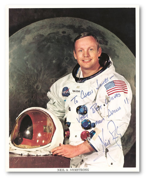Signed photograph of Neil Armstrong