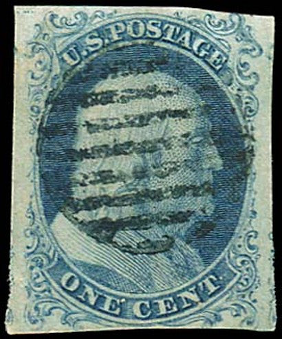 1851 Franklin 1c Blue Type 1