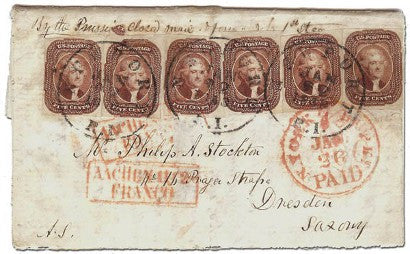 1856 5c Red Brown cover