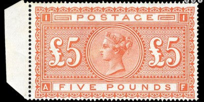 1882 £5 Orange stamp buy