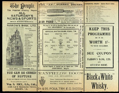 1909 FA Cup final programme