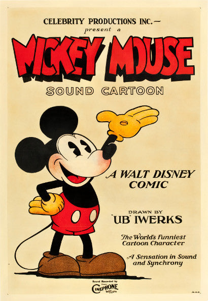 Earliest Mickey Mouse poster auction