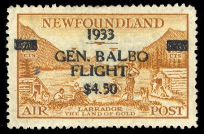 1933 Balbo Flight double-surcharge stamp