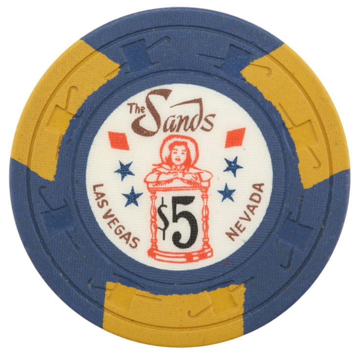 Rare Sands cowgirl-hourglass $5 Casino chip