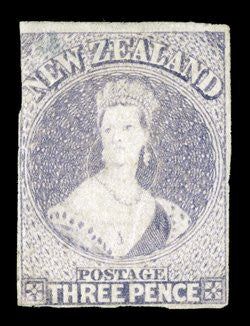 Three penny lilac stamp of New Zealand