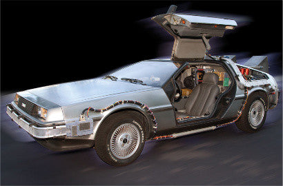 Delorean time machine replica