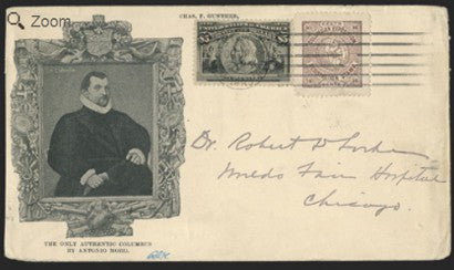 1893 $5 Columbian Issue cover