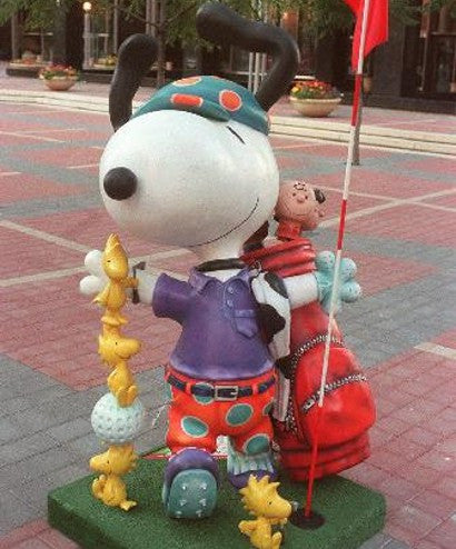 Peanuts on Parade Charles Schulz statues Snoopy