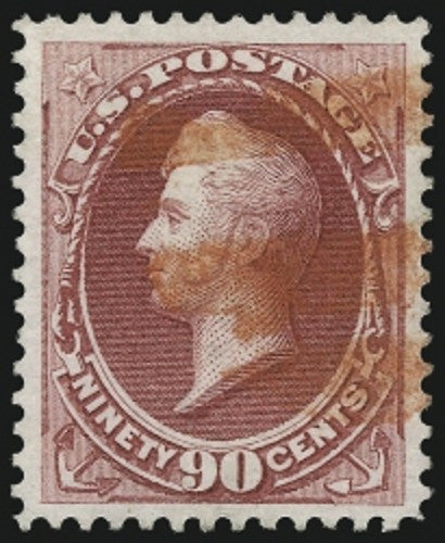 1870 National Bank Note Company 90c Carmine stamp used
