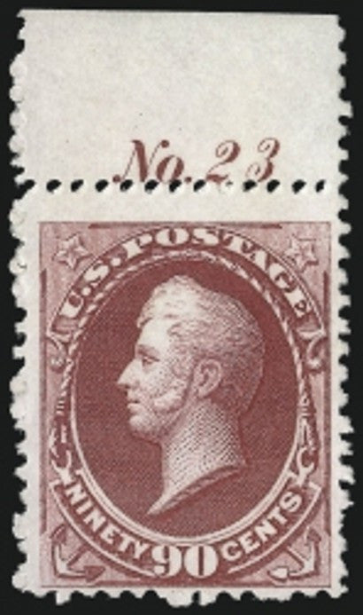 90c Plate number stamp Continental Bank Note
