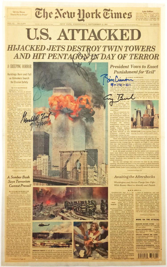 911 signed paper