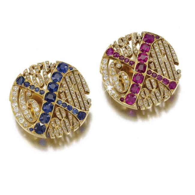 Tenth Anniversary Gold jewellery Cufflinks Romanov