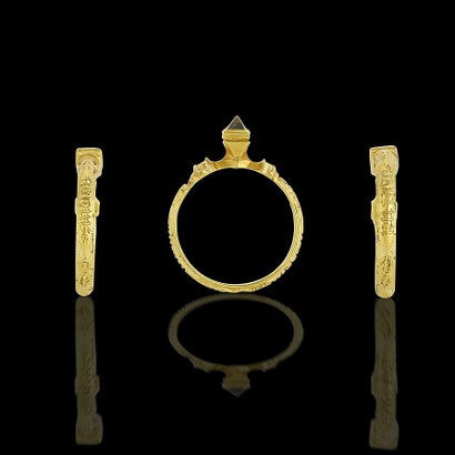 A rare 15th century gold and diamond ring