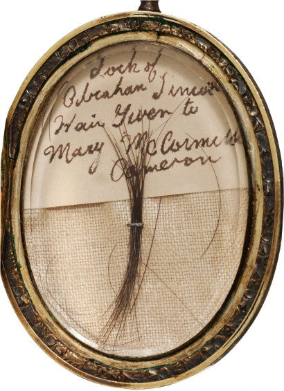 Abraham Lincoln hair auction buy collect