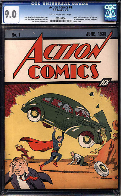 Action Comics issue 1 Nicholas Cage graded 9.0