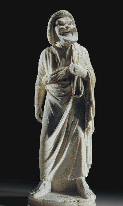 Roman Old Man of Comedy statue