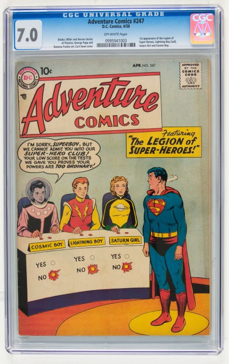Superman Legion of Superheroes Super-Heroes Adventure comics