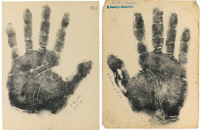 Albert Einstein handprints