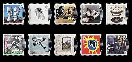 Music albums as stamps