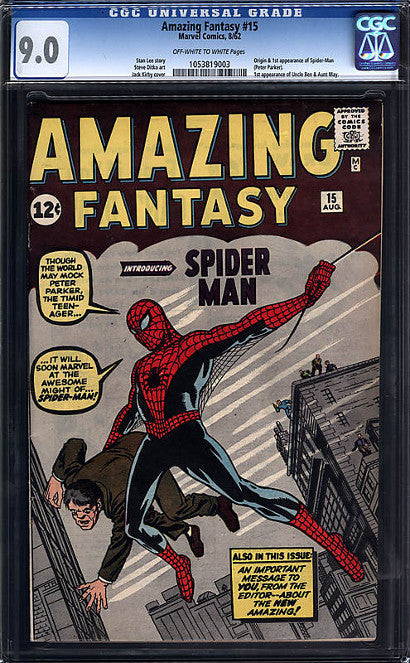 Amazing Fantasy 15 9.0 Spiderman