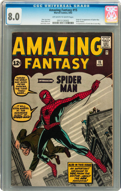 Amazing Fantasy 15 Spiderman comic