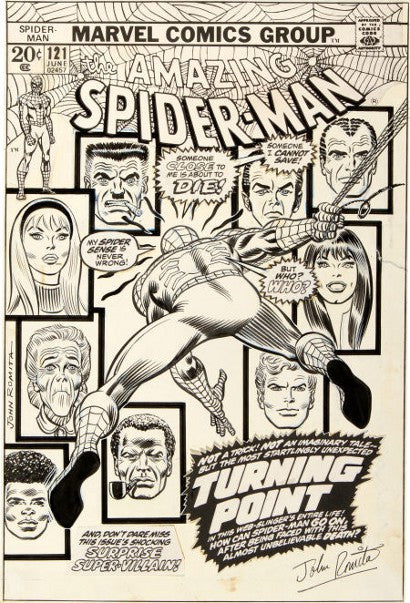 Amazing Spider-Man 121 Gwen Stacy cover art auction