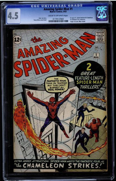 Amazing Spider-man 1 graded 4.5