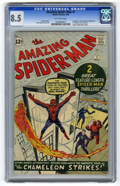 Amazing Spider-man comic issue 1 rated 8.5