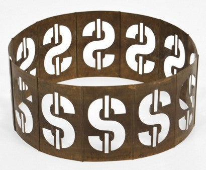 Andy Warhol Dollar sign sculpture Steve Rubell