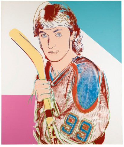 Andy Warhol Wayne Gretsky auction