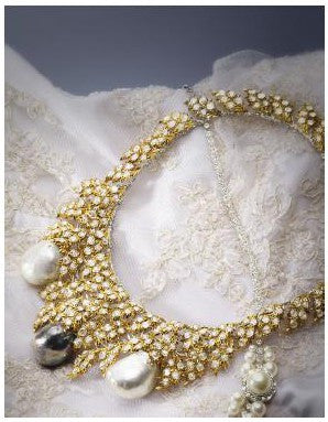 Anita Mui cultured pearl diamond necklace