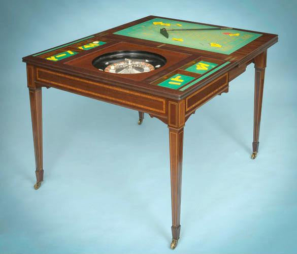 Antique gaming roulette furniture commissioned by King Edward VII