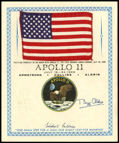 APOLLO 11 SPACE FLOWN FLAG
