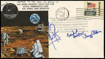 Apollo 11 space flown autograph cover