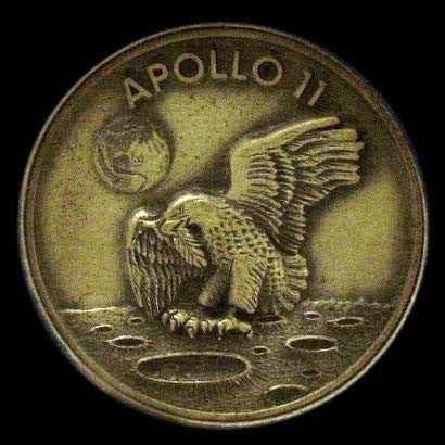 Apollo 11 silver Robbins medallion